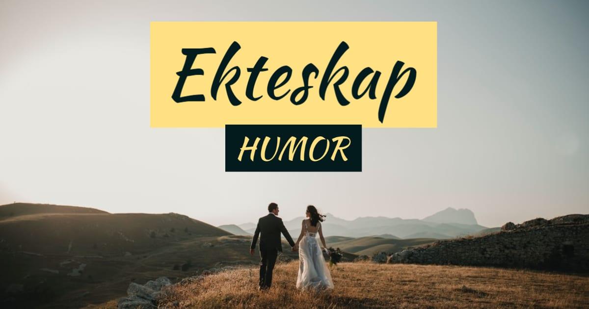 Humor, sitater og vitser om ekteskap